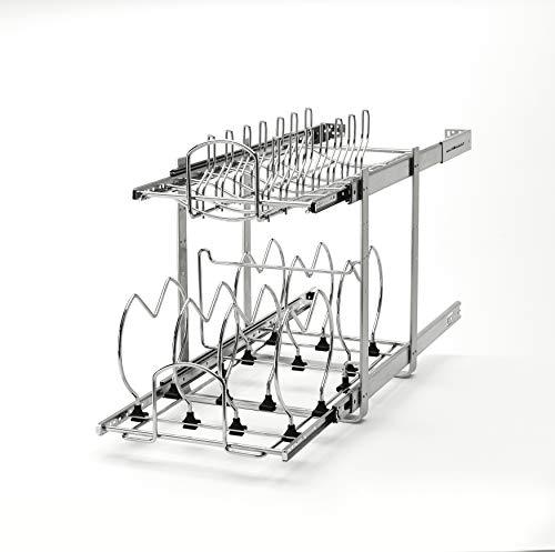Rev-A-Shelf --30,5cm Zwei Kochgeschirr Organizer, Chrome, 12 in.