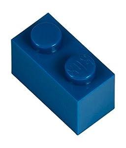 Q-Bricks 2 x 1-Stud Building Blocks Flojo Pack (250 Piezas, Azul)