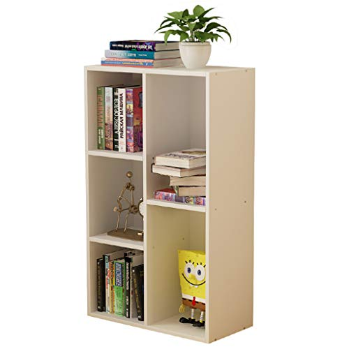Bücherregal Massivholz, Storage Organizer Regal Dekor Display Rack, Home-Office-Möbel, für CDs Filme & Bücher (2 Farben) - Massivholz-home-office-möbel