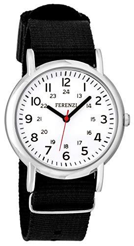 Referzi FZ200 - Reloj de Pulsera Unisex con Correa de Lona e125e81c609e