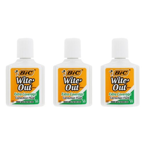 bic-wofec324-wite-out-extra-coverage-correction-fluid-20ml-bottle-white-3-per-pack