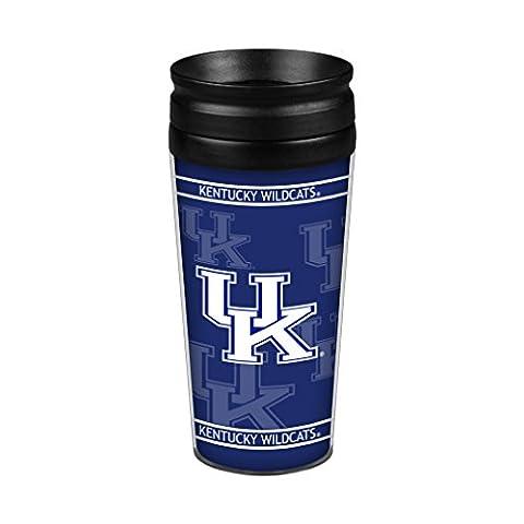 NCAA Kentucky Wildcats Full Wrap Travel Tumbler, 14-Ounce, Blue