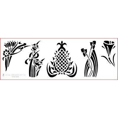 graphits Schablone Shabby Chic Kreativbaukasten, 01-001-0036, Blumen Jugendstil als Wandschablone,...