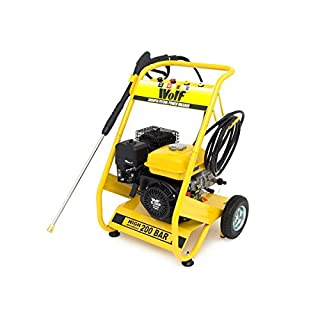 Wolf Petrol Pressure Washer 3000psi 200bar 6.5HP 4-Stroke Petrol Driven Jet Power Washer With 4 Quick Fit Release Nozzles 2 Year Warranty
