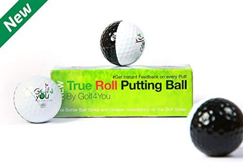 Pack de 3 Balles d'entrainement au Putting - True Roll Putting Ball - Accessoire de Golf Special...