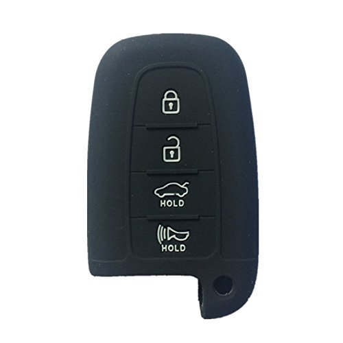 ezzy-auto-black-4-buttons-silicone-remote-fob-key-case-cover-holder-bag-key-fob-skin-covers-replacem
