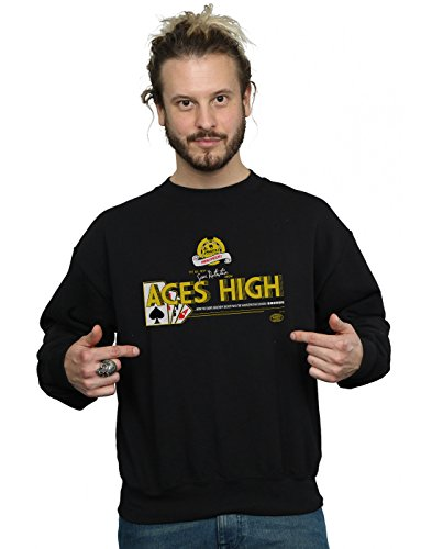 Absolute Cult Alex Chenery Herren Ace's High Sweatshirt Schwarz X-Large - Aces High Tee