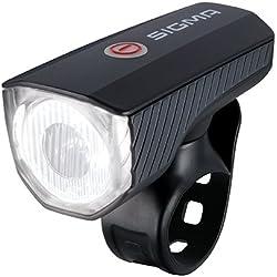 Sigma Aura 40 USB Faro Delantero, Deportes al Aire Libre, Ciclismo,componentes de Bicicleta, Negro, Talla Única