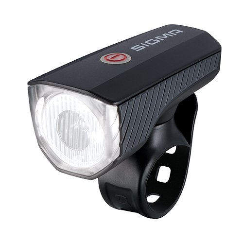 Sigma Sport - Luce a LED per Bicicletta, a Batteria, Aura 40 USB, 40 Lux, Ricaricabile, Omologata StVZO, Nero