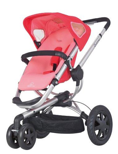Quinny Buzz 3 Kinderwagen Buggy Kombiset, inklusive Einkaufskorb, Sonnenverdeck, Regenverdeck, Sonnenschirmclip und Adapter für Quinny Dreami und Maxi-Cosi Babyschale, rosa