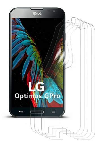 moex 5X LG E986 Optimus G Pro | Schutzfolie Klar Display Schutz [Crystal-Clear] Screen Protector Bildschirm Handy-Folie Dünn Displayschutz-Folie für LG Optimus G Pro Displayfolie (Pro Screen Protector Lg Optimus)