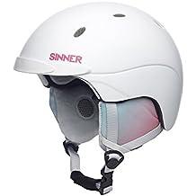 Sinner Titan - Casco de esquí para mujer, color blanco, talla M (58 cm)