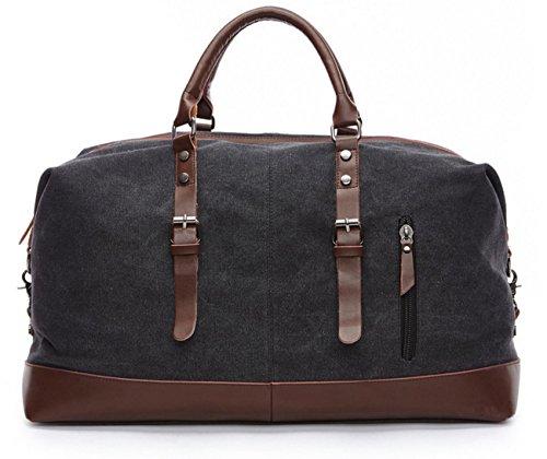 df6ae1a08c Happytimebelt 53,8 cm Trim Weekender borsa da viaggio, borsone in tela,  Coffe Black