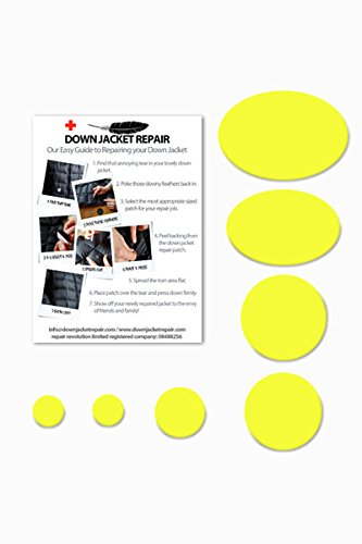 Doudoune Patch de réparation kit (Autocollant) Acide Jaune