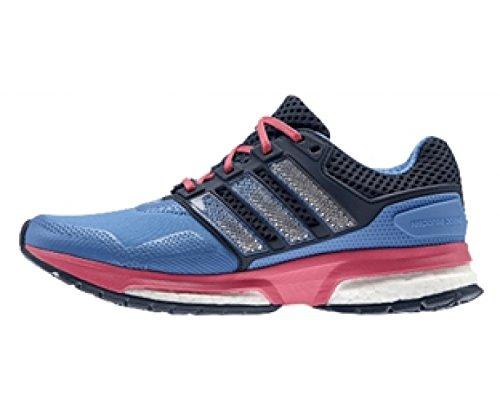 adidas Response Boost 2 Techfit, Chaussures de running femme Bleu