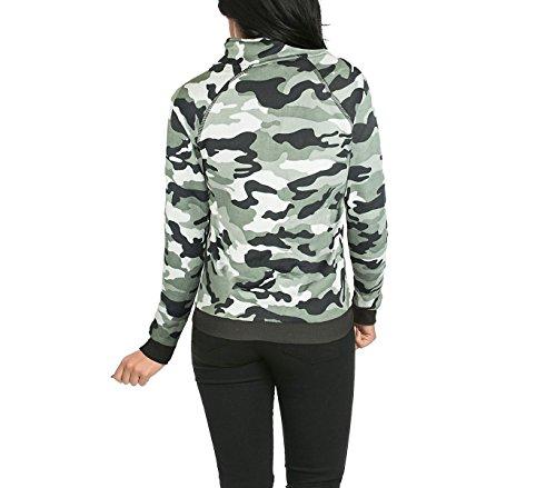 Felpa tuta da donna con zip KZ-379 mod. GEMINI mimetica taglie da S ad XL. MEDIA WAVE store ® Grigio