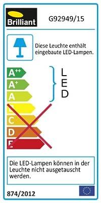 Brilliant Melina Tischleuchte, 1-flammig, 1 x 11 W, RGB, Metall, chrom G92949 / 15 von Brilliant auf Lampenhans.de
