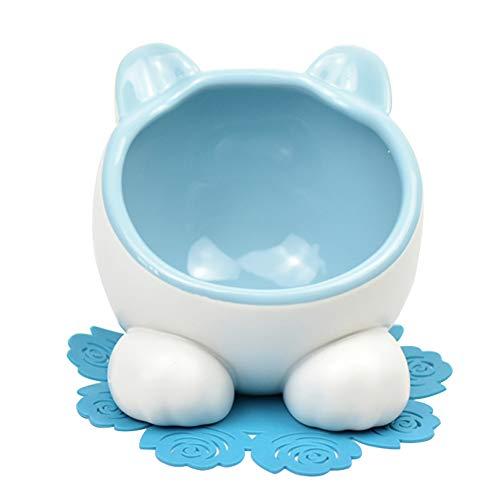 XDYFF Futternapf Keramiknapf Katzenschüsselpet Doppelte Schüssel Garfield-Schüssel Keramische Flache Gesichtskatzenschrägstellungschüssel -