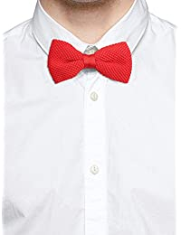 Tossido Knitted Red Subtle Bow Necktie (TBNK20)