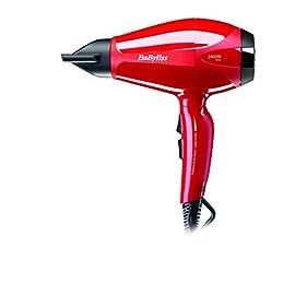 babyliss 6615e - 41fOX4L4YoL - BaByliss 6615E AC Haartrockner Pro Intense, 2400W, Rot