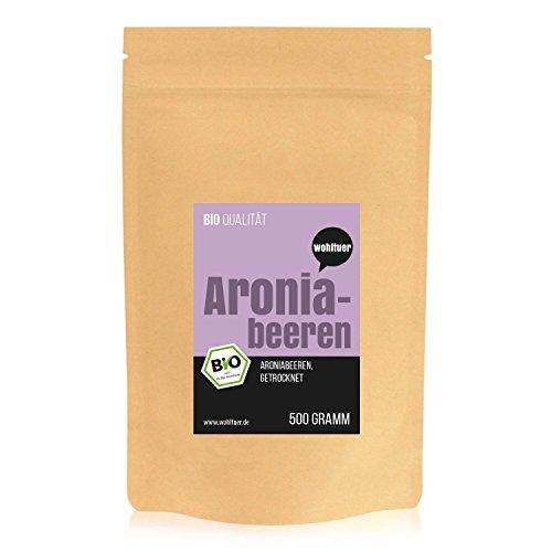 Wohltuer Bio Aroniabeeren getrocknet (500g) (Magnesium Ergänzung In Bio)