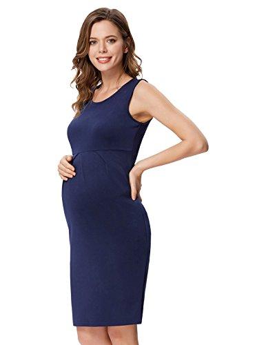 Mujer Vestido de Maternidad sin Mangas Vestido de Lactancia L CLAF1033