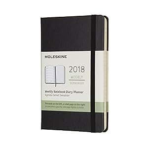 2018 Moleskine Pocket Weekly Notebook Diary 12 Months Hard