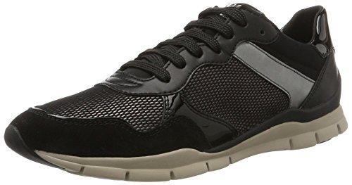 Geox Damen D Sukie A Sneaker Schwarz (nero / Castagna)
