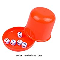 Gugutogo Thickened Bar Nightclub With Bottom Bracket And Sieve Cup Combined Dice Dice Cup Color Cup Set To Deliver 5 Dices