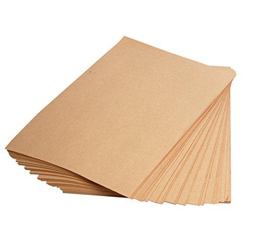 Clairefontaine 3708C Druckerpapier Papier 21x 29,7cm, 250Blatt 90g Kraftpapier braun gerippt