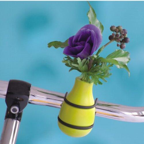 """hundeinfo24.de Fahrradvase """"Frieda"""" / Vase für Fahrradlenker aus Holz in apfelgrün"""