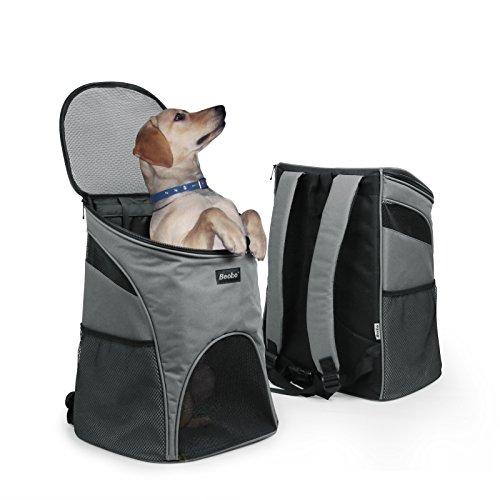 Becko Haustiertasche Hundetasche Transporttasche Rucksack für Haustiere wie kleine Katze und Hund Netzrucksack (Rucksack)