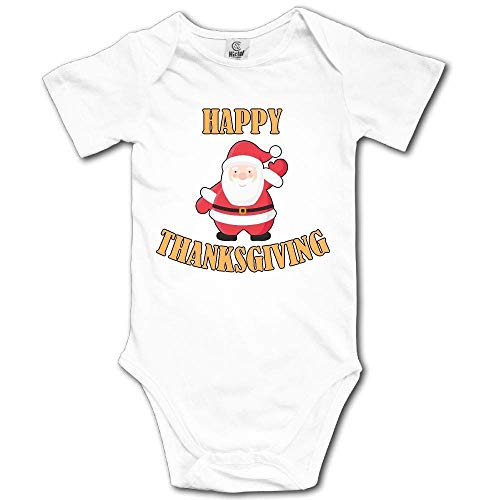 Babybekleidung Jungen Mädchen T-Shirts, Happy Thanksgiving Santa Claus Newborn Baby Girl Clothes Short Sleeve Infant Bodysuit Onesie -