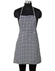 DEWBERRIES Waterproof Cotton Kitchen Multi Colour Apron with Front Pocket - Set of 1