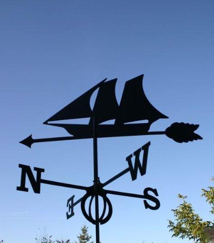 WINDJAMMER Wetterfahne aus Stahl groß schwarz 93 cm