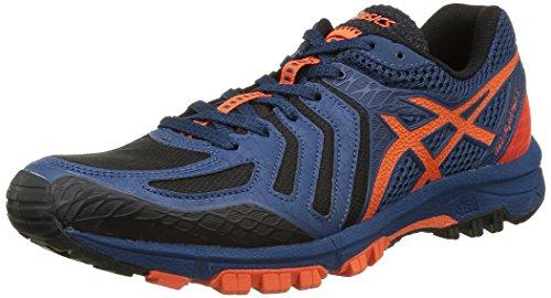 Asics GEL-Fujiattack 5, Zapatillas de Running para Asfalto para Hombre, Varios Colores (Poseidon/Flame Orange/Black), 42 EU