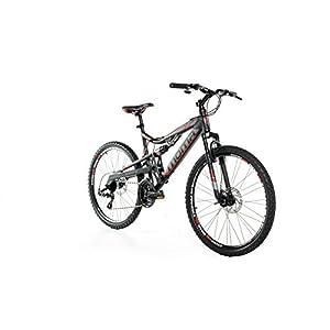 "Moma Bikes Bicicleta Montaña Mountainbike 26"" BTT SHIMANO 21 vel. Aluminio, frenos de disco y suspension, L (1,70-1,79m)"