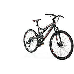 "Moma Bikes Bicicleta Montaña EQX 26"" Alu, SHIMANO 24V, Doble Freno Disco, Doble Susp. (Varias Tallas)"