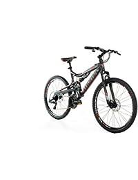 """Moma Bikes Bicicletta Mountainbike 26"""" BTT SHIMANO, alluminio, doppio disco e doppia sospensione"""