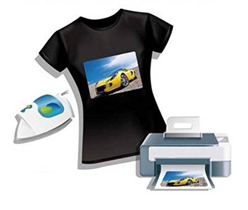 2AINTIMO Carta Transfer Ink-Jet Fogli per T-Shirt Tessuti Chiari O Scuri f.to A4 (21x29,7cm) (Tessuti Scuri, 1)