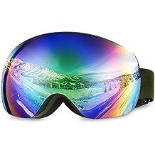 08c17e943fc933 Asommet OTG Masque de Ski – Plus de Lunettes de Ski Snowboard pour Homme,