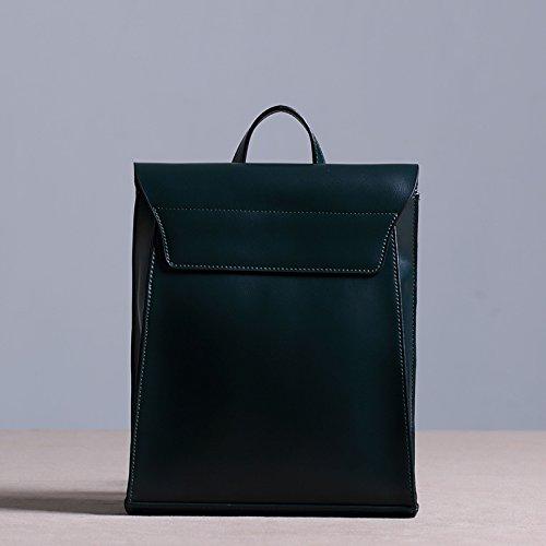 Sprnb Zaino in pelle donna borsa a tracolla in pelle zaino per il tempo libero,marrone Blackish green