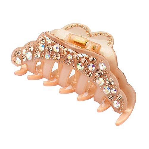 elegant-womens-rhinestone-epoxy-enamel-hair-claw-hair-clip-champagne
