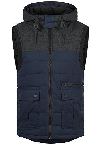 REDEFINED REBEL Maleko Herren Weste Steppweste mit Kapuze aus hochwertiger Materialqualität, Größe:S, Farbe:Navy