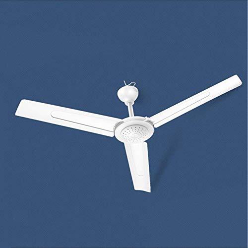REGPL Ventilator, Haushalts-Wohnzimmer-Deckenventilator, geräuscharmer Deckenventilator für Industriedecke, Restaurant im Schlafsaal mit großem Windventilator, 220 V, 20 W Dauerhaft/Weiß / 90 cm
