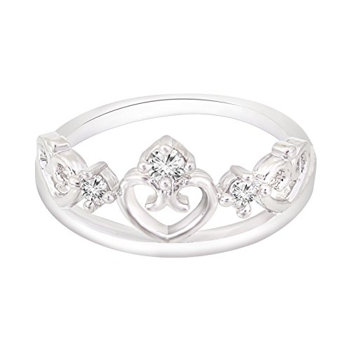 Fasherati silver plated crown rings for girls