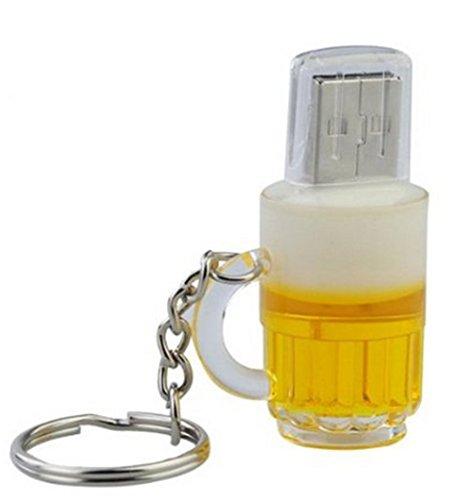Mogist - chiavetta usb a forma di boccale di birra divertente, con penna usb, 2gb, 2 gb