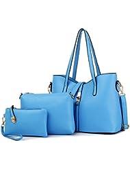 X&L Padre de las señoras moda multi single niño paquete diagonal bolso del hombro , days blue