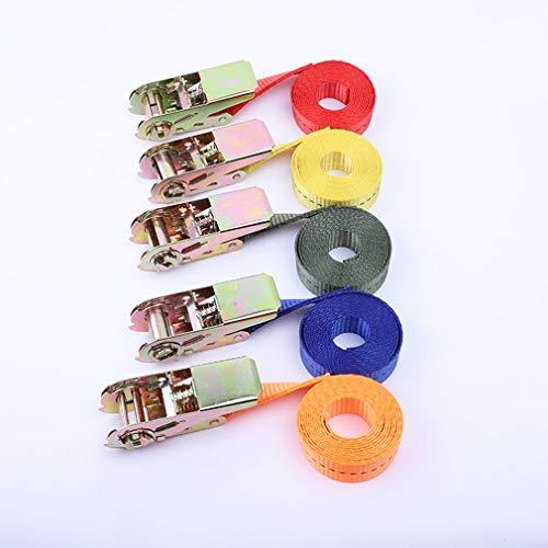 Buckle Tie-Down-Gürtel Fracht Riemen für Auto Motorrad Fahrrad mit Metallschnalle Abschleppseil Starker Ratchet Gürtel für Gepäcktaschen -