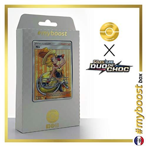 Nix (Nocta) 180/181 Entrenadore Full Art - #myboost X Soleil & Lune 9 Duo de Choc - Box de 10 Cartas Pokémon Francés